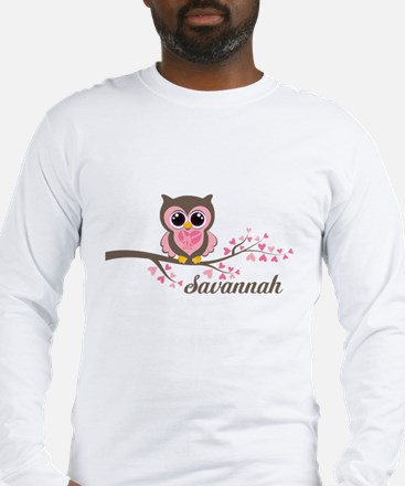 Custom Valentines Day owl Long Sleeve T-Shirt
