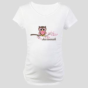 Custom Valentines Day owl Maternity T-Shirt