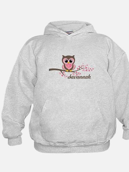 Custom Valentines Day owl Hoodie