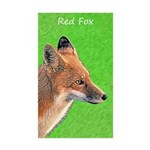 Red Fox Sticker (Rectangle 10 pk)