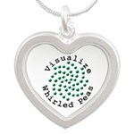 Visualize Whirled Peas 2 Silver Heart Necklace