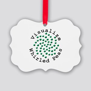 Visualize Whirled Peas 2 Picture Ornament