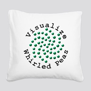 Visualize Whirled Peas 2 Square Canvas Pillow