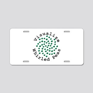 Visualize Whirled Peas 2 Aluminum License Plate