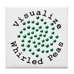 Visualize Whirled Peas 2 Tile Coaster