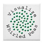Visualize Whirled Peas 2 Tile Coaster