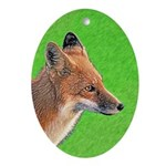 Red Fox Oval Ornament