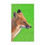 Red Fox 35x21 Wall Decal