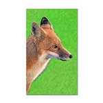Red Fox Rectangle Car Magnet