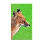 Red Fox Sticker (Rectangle 50 pk)