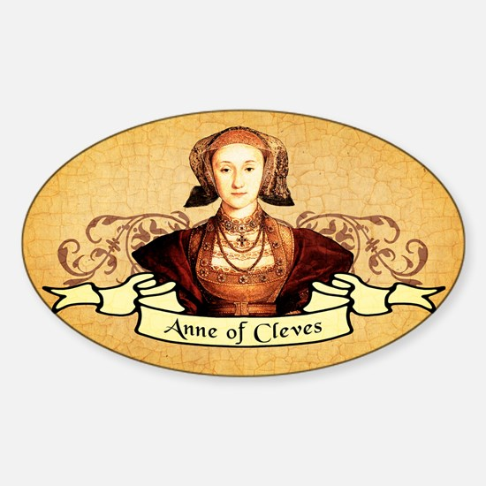 Anne Of Cleves Sticker (Oval)