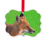 Red Fox Picture Ornament