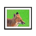Red Fox Framed Panel Print