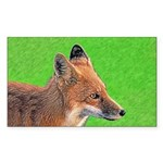 Red Fox Sticker (Rectangle)
