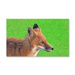 Red Fox Car Magnet 20 x 12