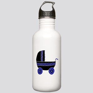 Black and Blue Stroller. Stainless Water Bottle 1.
