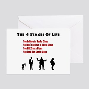 Four Stages of Life Greeting Card