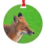 Red Fox Round Ornament