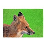 Red Fox 5'x7'Area Rug