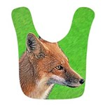 Red Fox Polyester Baby Bib