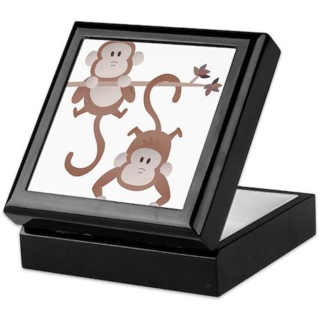 Cartoon monkeys hanging around Keepsake Box