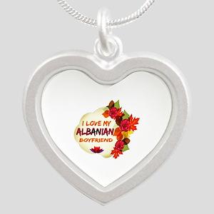 Albanian Boyfriend designs Silver Heart Necklace