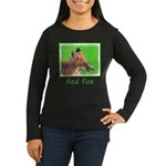 Red Fox Women's Long Sleeve Dark T-Shirt