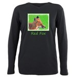 Red Fox Plus Size Long Sleeve Tee