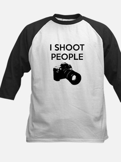 I shoot people - photography Kids Baseball Jersey