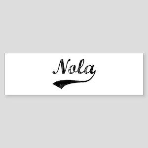 Vintage: Nola Bumper Sticker