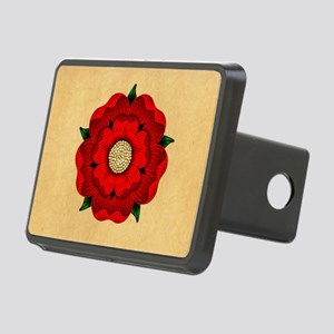 Red Rose Of Lancaster Rectangular Hitch Cover