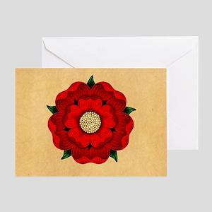 Red Rose Of Lancaster Greeting Card
