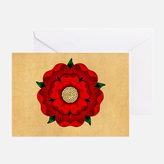Red Rose Of Lancaster Greeting Card