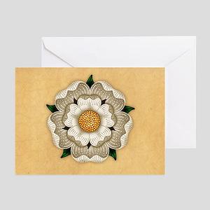 White Rose Of York Greeting Cards (Pk of 20)