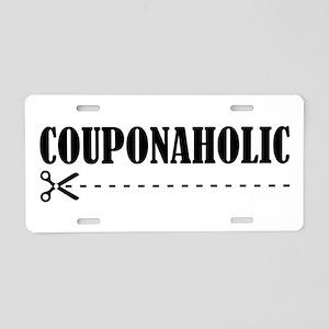 COUPONAHOLIC Aluminum License Plate