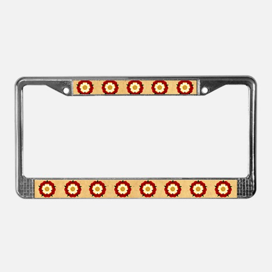 Tudor Rose License Plate Frame