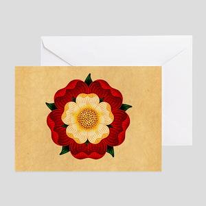 Tudor Rose Greeting Cards (Pk of 20)