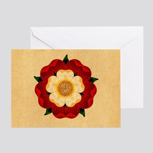 Tudor Rose Greeting Card