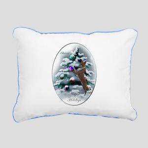 Basenji Christmas Rectangular Canvas Pillow