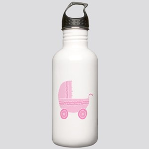 Pink Stroller. Stainless Water Bottle 1.0L