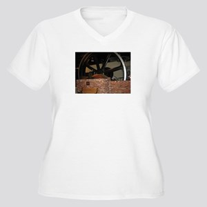 Big Iron Wheel Women's Plus Size V-Neck T-Shirt