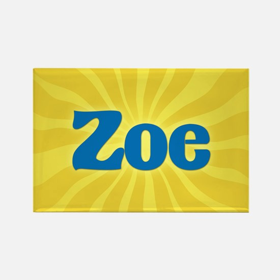Zoe Sunburst Rectangle Magnet