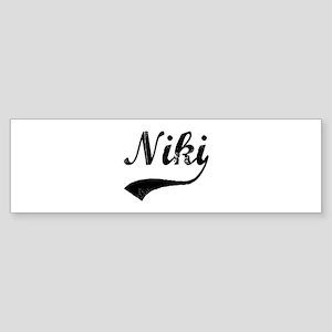 Vintage: Niki Bumper Sticker