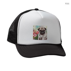 Pug Dog Kids Trucker Hats - CafePress 72241d3d754