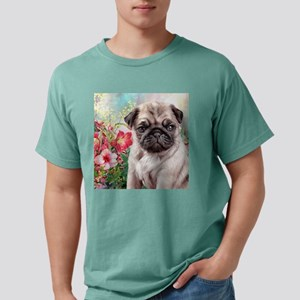 Pug Painting Mens Comfort Colors Shirt