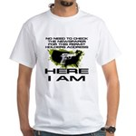 Here I Am Camo Nation White T-Shirt