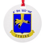 BBDE 6/502 Infantry Round Ornament
