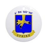 BBDE 6/502 Infantry Ornament (Round)