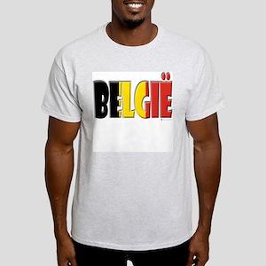 Word Art Flag Belgie Light T-Shirt