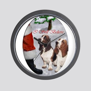 Basset Hound Christmas Wall Clock